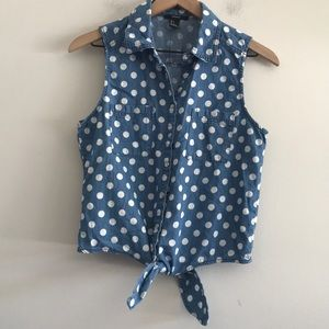 Forever 21 Poka Dot Sleeveles Top Size S